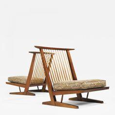 Pair of Conoid Cushion Chairs