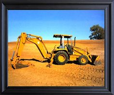 Caterpillar Cat Wheel Loader Excavator Truck Black Framed Art Print Picture (19x23) by Impact Posters Gallery, http://www.amazon.com/dp/B00Z5HV3SQ/ref=cm_sw_r_pi_dp_x_jKzDzbAQ00ZVS