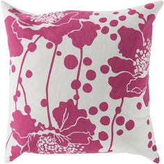 Florence Broadhurst Spotted Floral FB-020 Pink Floral Pillow - GiiStores.com