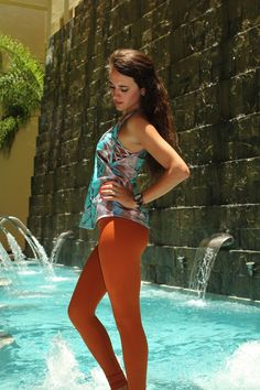 Carrie in Bluebee!  shop now: http://www.mikayogawear.com/product/tops/carrie-tank-prints-350.php