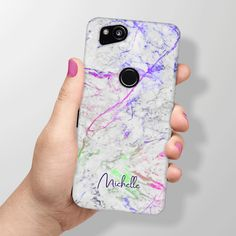 434ff749e1 Personalised Rainbow Marble Phone Case for Google Pixel 2 and Google Pixel 2  XL. Special