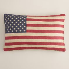 Decor You Adore: O Say Can You See? Decorating with Red, White & Blue! World Market Pillow