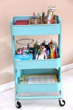 back to school organization ideas, homework station, homework caddy, portable homework station