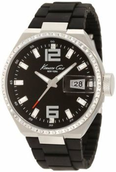 Kenneth Cole New York Men's KC4812 Classic Black Dial & Silicone Link Bracelet Watch Kenneth Cole. $54.99. Durable mineral crystal protects watch from scratches,. 3-hand japanese quartz analog movement with date. Water-resistant to 165 feet (50m). Silicone link. Solid stainless steel case, case back and crown