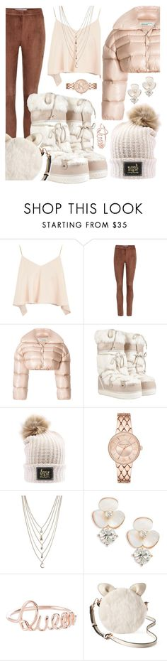 """Pufff "" by huxmay ❤ liked on Polyvore featuring Topshop, Loewe, Off-White, Salvatore Ferragamo, Ettika, Kate Spade and LC Lauren Conrad"