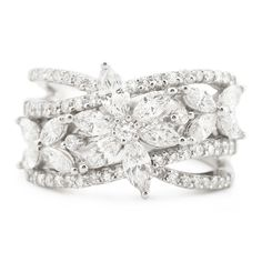 1.84ct Diamond 18k White Gold Ring