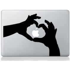 Hands Macbook Decal Macbook Stickers Macbook Decals Laptop Skin Cover... ($6.99) ❤ liked on Polyvore featuring accessories, tech accessories, electronics, apple and tecnology