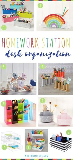 Trendy Diy Desk Organization Ideas For Teens Homework Station Ideas Organisation Hacks, Office Desk Organization, Organization Station, Craft Organization, Kids Homework Station, Homework Area, Kid Desk, Home Office, Study Space