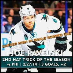 hat trick of the season. Of his nhl career. Stanley Cup Finals, Sharks, Nhl, Hockey, Career, Goals, Seasons, Baseball Cards, Carrera
