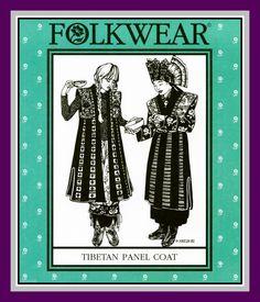 Vintage 1982-TIBETAN PANEL COAT-Historical Sewing Pattern-Full Length Vest-Contrast Panels-Art To Wear-Uncut-All Sizes-Rare by FarfallaDesignStudio on Etsy