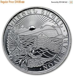 30% Off Fall Sale 2014 Noah's Ark 1/4 oz Silver Coin by PGSCoins
