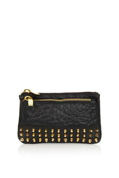 Merino Dome Stud Purse real leather via TOPSHOP i love this so much Goth Chic, Studded Purse, Swagg, Real Leather, Zip Around Wallet, Fashion Accessories, Topshop, Purses, My Style
