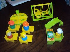 Vintage Little People School and Playground Set for sale on eBay