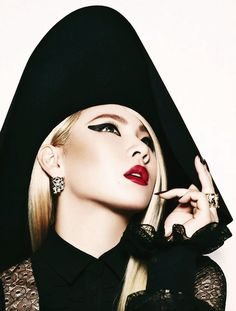 CL (2NE1) | Bold, Black Rouge. Come visit kpopcity.net for the largest discount fashion store in the world!!