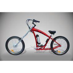 Es la chopper definitiva para no pasar desapercibido. Ruedas Kendra para que absolutamente nada se entrometa en tu camino, motor de 250 W y autonomía de hasta 5 horas.  http://www.pedelectra.com/producto/bicicleta-electrica-chopper-red-baron-250w-li-ion/