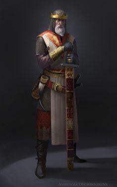 Northern Tales. The King., Anastasia Ovchinnikova on ArtStation at https://www.artstation.com/artwork/northern-tales-the-king