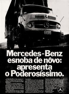 Anúncio caminhão Mercedes-Benz - 1970