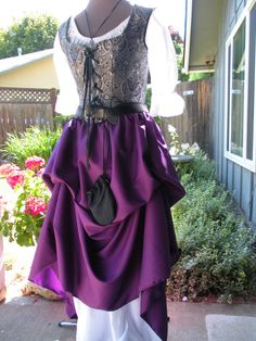 Pirate or Renaissance Layering Skirt Purple by Piecesof8costumes