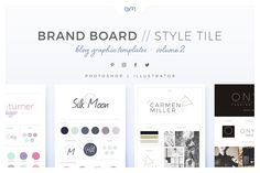 Brand Boards / Style Tiles VOL 2 by AM Studio on @creativemarket