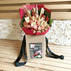 Is this bouquet only for guys? Not sure how you are but I love all those salamis and sausages with cheese. Or maybe it's just my Russian childhood?
