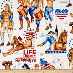 Love, Luck, & Liberty Just Us for All Pinup Guys Bright Veterans Memorial Day, Male Pinup, Alexander Henry Fabrics, Cat Fabric, Sexy Drawings, Creative Artwork, Gorgeous Fabrics, Anatomy Reference, Gay Art