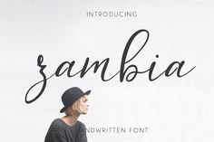 Zambia - clean script font made for branding. $10 on Creative Market #ad
