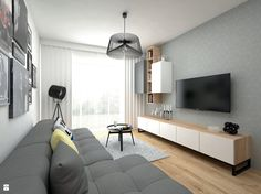 Salon styl Skandynawski - zdjęcie od BIG IDEA studio projektowe - Salon - Styl Skandynawski - BIG IDEA studio projektowe