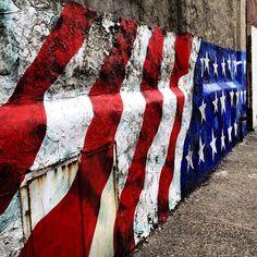 Patriotic street mural - Philly