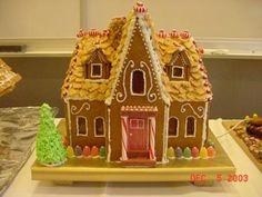 Tudor Revival style gingerbread house