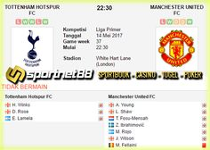 Prediksi Skor Bola Tottenham Hotspurs vs Manchester United 14 Mei 2017 Liga Primer di White Hart Lane (London) pada hari Minggu jam 22:30 WIB live di beIn Sport 1