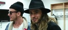 Leto Bros. is he saying Meow??