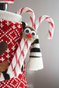 Candy Cane Ornament / Poro karkkikepistä