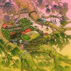 nimasprout - Art by Nicole Gustafsson_Home Among The Branches