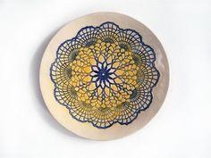 Keramik Wand Teller, Kunst Keramik, Wand Deko by Tanja Shpal, Interieur Design, Wand Dekoration von ceralonata auf Etsy