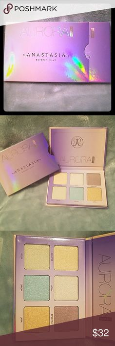 anastasia aurora glow kit highlighter brand new never used anastasia glow kit Anastasia Beverly Hills Makeup