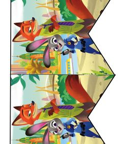 FREE Zootopia Birthday Party cupcake toppers, banner, and water bottle label Printables