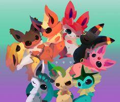 Pokemon - art - evolutions