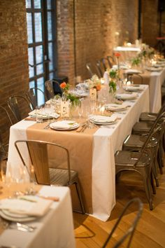 Brooklyn Hotel Wedding From Dm Events Paper Tableclothwhite