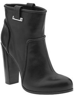 Black leather ankle boots .... Rachel Zoe Charlie | Piperlime