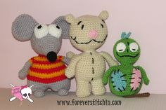 My newest #FREE patterns! #ForeverStitchin #crochet Get them here: www.foreverstitchin.com/blog/toopy-binoo-and-patchy-patch-patterns
