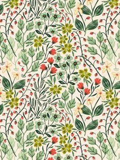 Resultado de imagen para wild flower old wallpaper pattern
