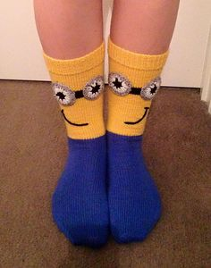Ravelry: Minion Mania Socks pattern by Judy Kennedy
