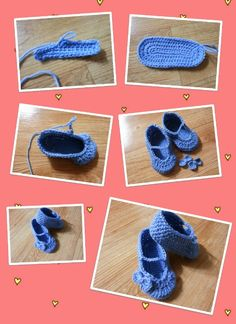 My first Crocheted Baby Shoes