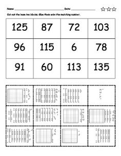 place value cut and paste there are 28 place value sheets in this cut and paste collection. Black Bedroom Furniture Sets. Home Design Ideas