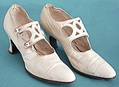 Antique White Leather Ladies' Wedding Shoes (Women's Hand Bags~Hats~Shoes) at Silversnow Antiques and Cut Out Design, Lady, White Leather, Wedding Shoes, Character Shoes, Vintage Ladies, Dance Shoes, Pairs, Antiques