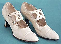 Antique White Leather Ladies' Wedding Shoes (Women's Hand Bags~Hats~Shoes) at Silversnow Antiques and Cut Out Design, Lady, White Leather, Wedding Shoes, Character Shoes, Vintage Ladies, Dance Shoes, Pairs, Diy Decoration