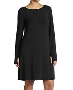 "Eileen Fisher Plus Size ""Thumb Hole"" Dress in Stretch Jersey - LOVE IT!"