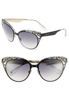 3d774cf283c Jimmy Choo  Estelle  Metal Cat Eye Crystal Lace 55mm Sunglasses available  at  Nordstrom