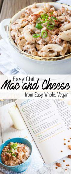 Easy Vegan Chili Mac and Cheese | www.veggiesdontbite.com | #vegan #plantbased #glutenfree #easywholevegancookbook via @veggiesdontbite