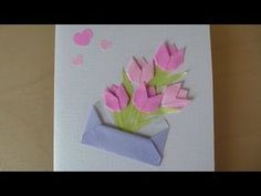 How to Make - Easy Greeting Card Mother's Day Birthday - Step by Step | Kartka Na Dzień Matki - YouTube